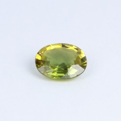 1.03ct Oval yellow green...