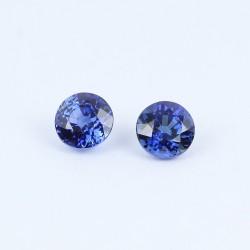 3,7mm Blue Sapphire pair