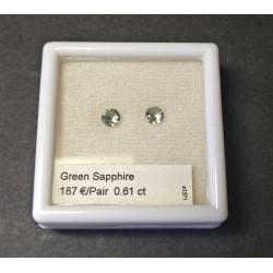 4,1mm Round Green Sapphire...