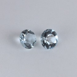 Aquamarine 6mm 1,25ct TW pair