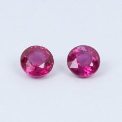 3.7mm Round Ruby pair
